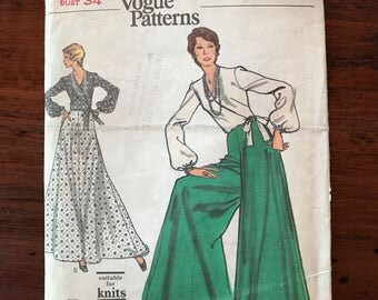 Vintage Vogue Pattern - Blouse, Pantskirt, and Skirt