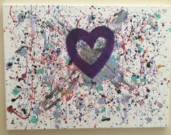 "Original Acrylic & Oil on Canvas Abstract Modern 20""x16"""