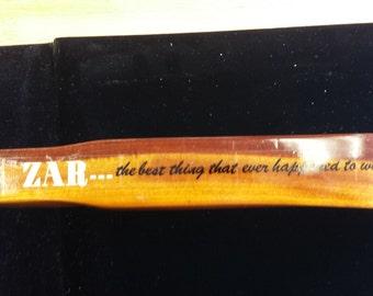 Vintage Zar Wooden Rifle Advertising Display (Slight Damage)