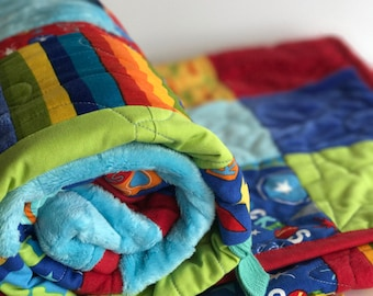 Taggie Rocket Ship Quilt