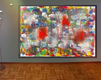 """Painting from the Deep waters series """"coral reef at Midsummer"""" / painting from the Deep Waters series """"Coral reef in the middle of summer"""""""