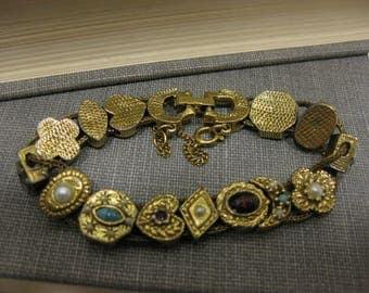 Vintage GOLDETTE Slider Charm Bracelet