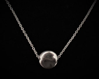 Simple Silver Dot Necklace