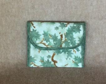 Green Fabric Wallet
