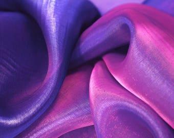 Purple Two Tone Organza