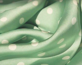 Serene Green Satin