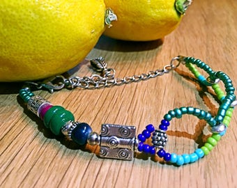 Anklet for beach, Colorful beads