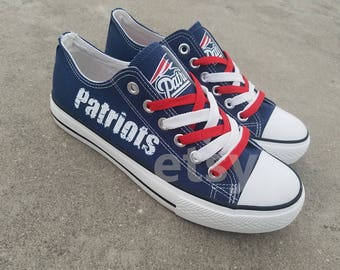 New England Patriots shoes Patriots sneakers Patriots tennis shoes Holiday gifts Custom shoes