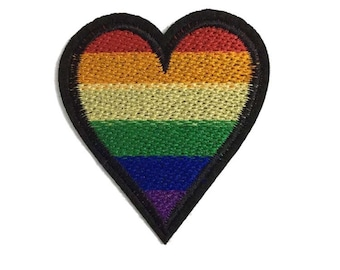 Iron on embroidery patch LGBT rainbow band merch gay