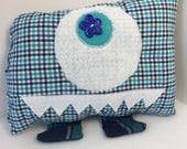 Kin the plushie monster -- upcycled 100% cotton shirts