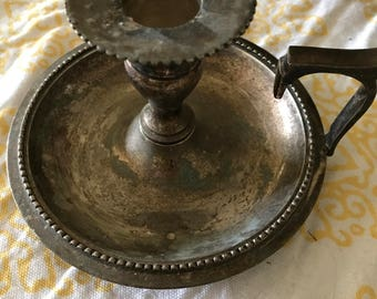 Vintage Silverplate Candle Holder