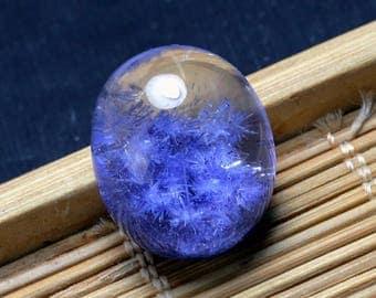 21.9Ct Rare Blue Dumortierite in Quartz Crystal