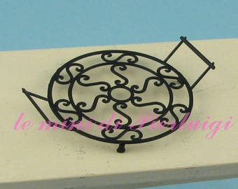 round tray with handles - dollhouse 1:12th scale - dollshouse miniature - kitchen accessories