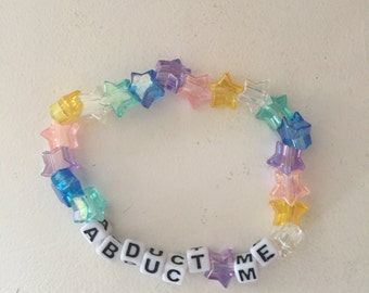 Abduct me kandi bracelet