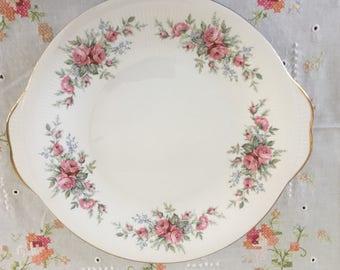 "Royal standard ""rambling rose"" cake plate, vintage cake plate, cake plate, plate."