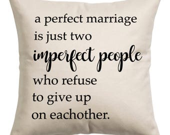 A Perfect Marriage Canvas Pillow Cover