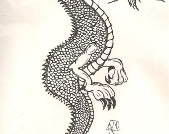 Chinese Dragon Pen and Ink