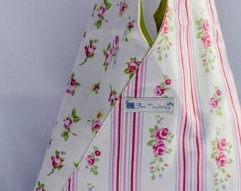 Pink, Green and Blue Floral Shoulder Bag.