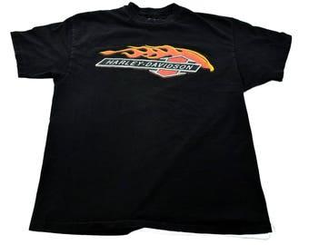 Vintage 1993 Harley Davidson Motorcycles RK Stratman Flame t-shirt mens XL 100% Cotton 90s Nineties