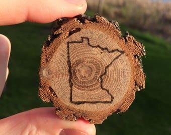 Wood Burned Wooden Magnets