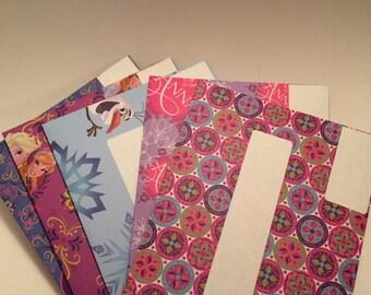 50% off Envelopes, Happy Mail, Frozen Envelopes, Mailing Envelopes, Set of 5 Envelopes