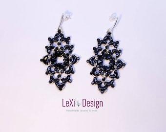Black Damask Earrings