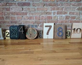 Assorted Numbers // Handcrafted // Wedding Table