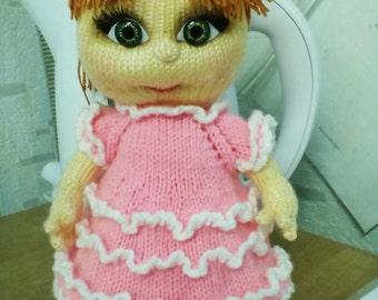 Knitted Doll handmade Doll