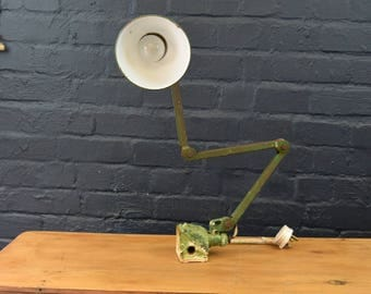 Industrial Angled Green Engineers Lamp
