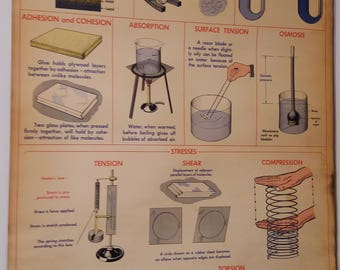 1951 M.W. Welches Manufacturing: Properties of Matter Poster