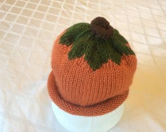 Dark Orange Pumpkin Hat, Toddler