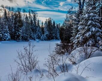 Paysage d'hiver au Canada