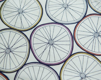 Julia Rothman Wheels from Ride sold by the Fat Quarter (FQ)