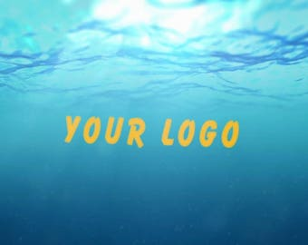 Video Intro or Outro, Logo appears from the water