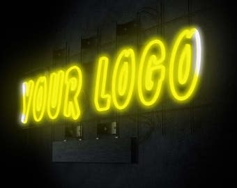Video Intro or Outro, neon sign