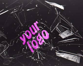 Logo breaks the glass wall, Video Intro or Outro