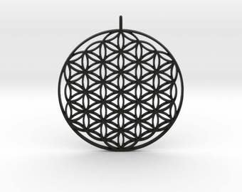 3d printed 65mm Flower of life pendant