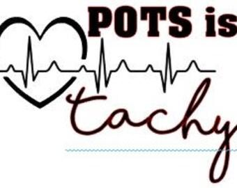 "POTS is Tachy | 4-6"" Vinyl Decal | Postural Orthostatic Tachycardia | Spoonie | Chronic Illness | Dysautonomia"