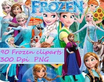 Frozen Clipart - Digital 300 DPI PNG Images,frozen ,disney frozen,elsa and anna,frozen png,frozen clipart,clipart,png,elsa frozen,