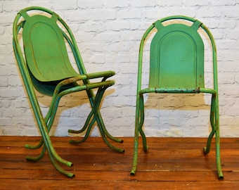 3 available Sebel Stak a Bye industrial metal chairs vintage restaurant cafe interior design stacking retro kitchen garden