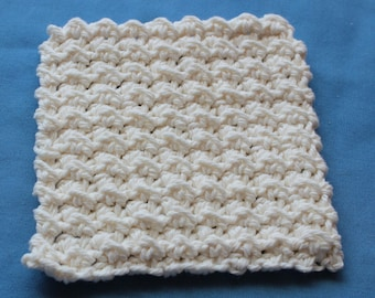 Crochet Textured MINI Cotton Washcloth