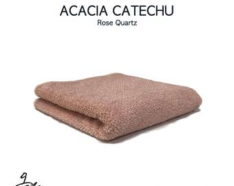 """Natural dyed towel with """"Acacia catechu-R"""""""