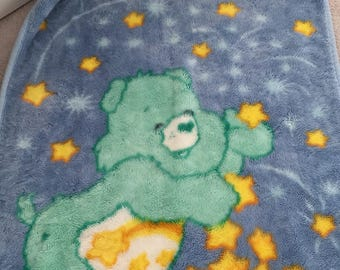Wish bear Care Bears vintage baby blanket