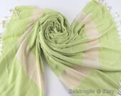 Turkish Beach Towel, Lime Green Hand-loomed Peshtemal, Green Peshtemal Towel, Handmade Turkish Beach Towel, Limited Supply