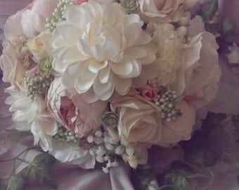 Artificial Dahlia and Peony Bouquet