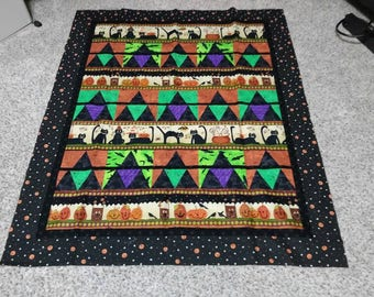 Halloween quilt top wall hanging