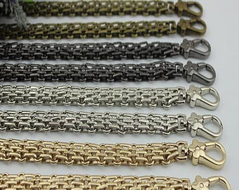 16mm Gold silver GUN METAL Chain Strap purse strap handles bag hadnbag Purse Replacement Chains Purse Finished Chain straps High Quality