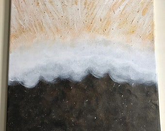 Just Above The Clouds - An AP Original 12x12 Acrylic Canvas Painting