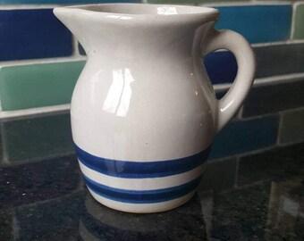 Vintage Roseville small pitcher/ large creamer