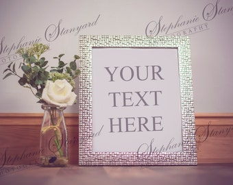 Creative Stock image  frame and flowers